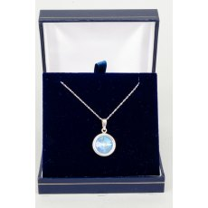 Necklace - Rivoli Swarovski Crystal Single Drop Round - Ocean DeLite