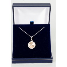 Necklace - Rivoli Swarovski Crystal Single Drop Round - Rose Gold