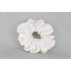 EJS-39 White Stripe Scrunchie