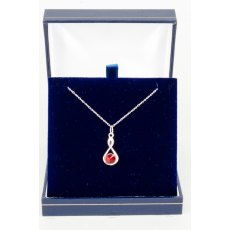 Necklace - Rivoli Swarovski Crystal Infinty - Ruby