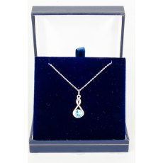 Necklace - Rivoli Swarovski Crystal Infinty - Light Sapphire