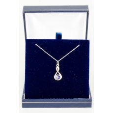 Necklace - Rivoli Swarovski Crystal Infinty - Tanzanite