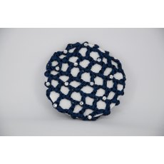 Navy Bun Net with Clear Swarovski Crystals