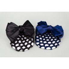 Navy Bun Net with Bow