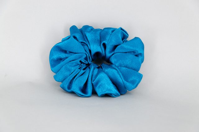 Equi-Jewel by Emily Galtry (28) Peacock Blue Single Colour Scrunchie