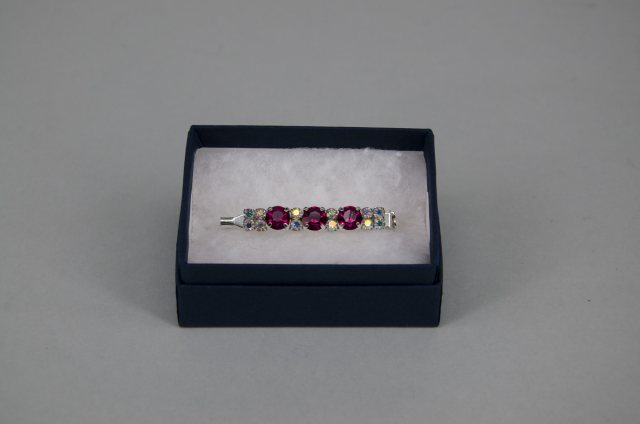 Equi-Jewel Stock Pin - 6mm Hot Pink & 3mm AB Jewels