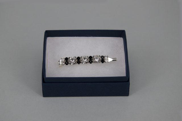 Equi-Jewel Stock Pin - 6mm & 3mm Clear with 3mm Black Jewels