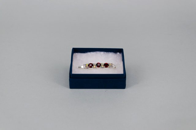 Equi-Jewel Stock Pin - 6mm Burgundy, 3mm Clear & 3mm AB Jewels