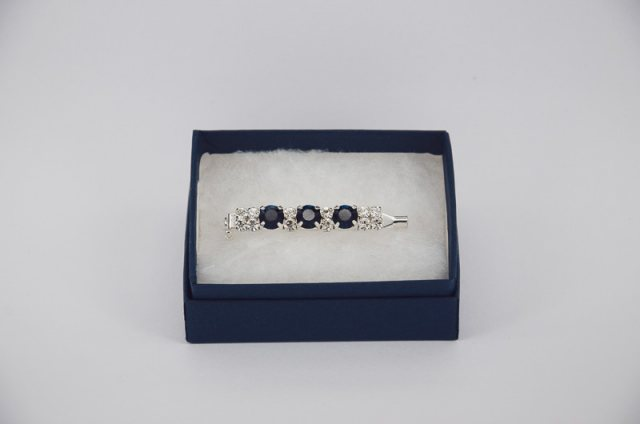 Equi-Jewel by Emily Galtry Stock Pin - 6mm Navy, 3mm Clear & 3mm AB Jewels