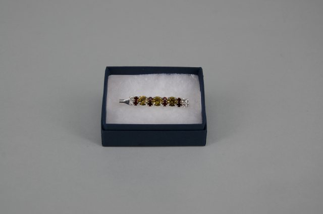 Equi-Jewel by Emily Galtry Stock Pin - 6mm Gold, 3mm Brown & 3mm Clear Jewels