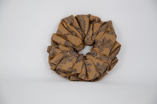 Equi-Jewel (36) Brown/Navy Paisley Single Colour Scrunchie