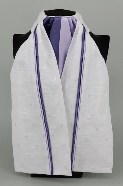 Equi-Jewel EJS-01 White Embossed Square with Dark Purple (15) & Lilac (13) Fixed Double Middle & Double Stripe