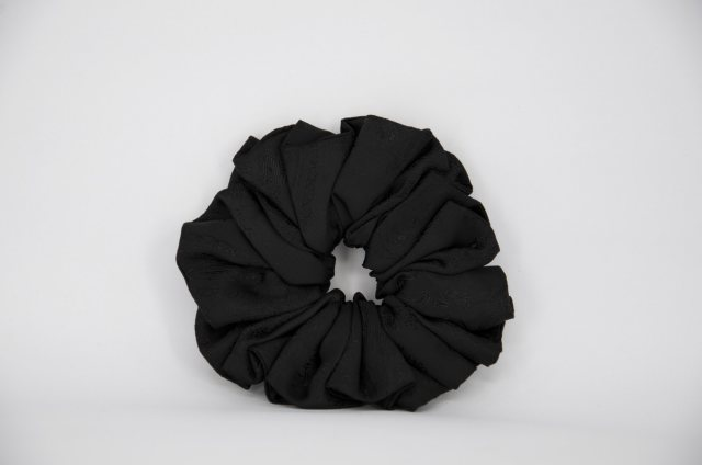 Equi-Jewel by Emily Galtry (43) Black Paisley Single Colour Scrunchie