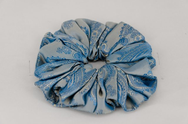 Equi-Jewel by Emily Galtry (55) Turquoise Paisley Single Colour Scrunchie