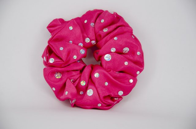 Equi-Jewel (23) Cerise Scrunchie with Sequins