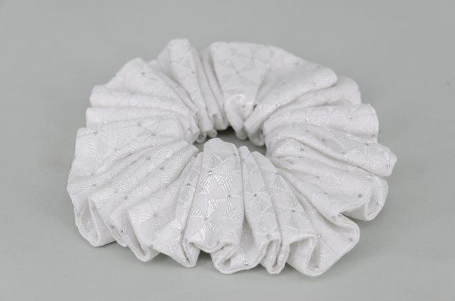 Equi-Jewel by Emily Galtry EJS-51 Hamburg White Scrunchie