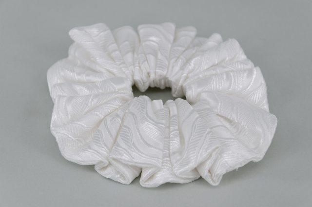 Equi-Jewel by Emily Galtry EJS-57 Cologne White Scrunchie