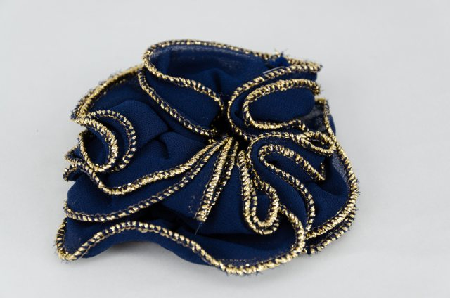Equi-Jewel Navy Chiffon Scrunchie
