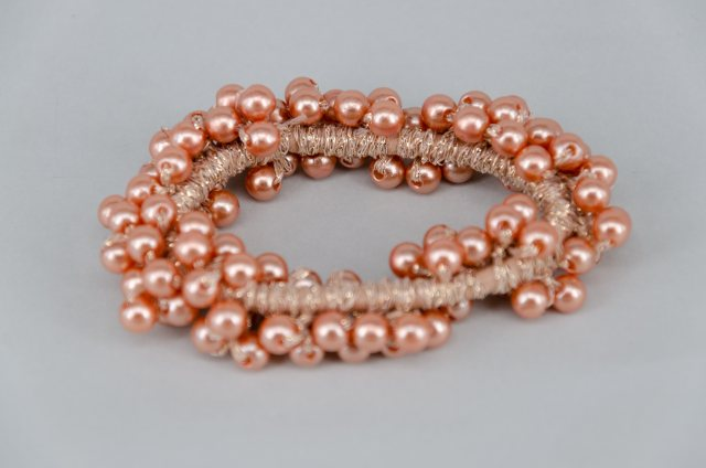 Equi-Jewel by Emily Galtry Pearl Effect Beaded Scrunchie - Rose Gold