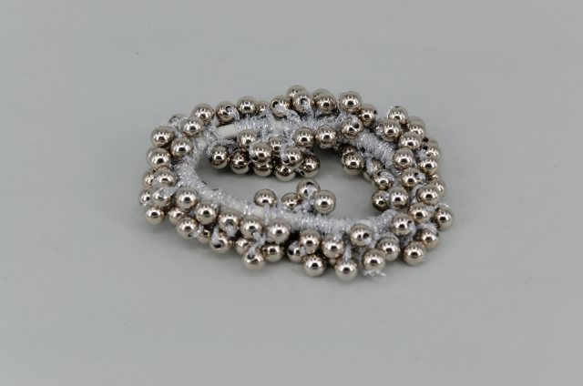 Equi-Jewel Pearl Effect Beaded Scrunchie - Silver