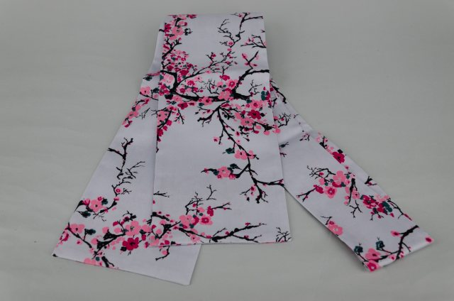 Equi-Jewel Grey with Pink Blossom Tie Your Own Stock