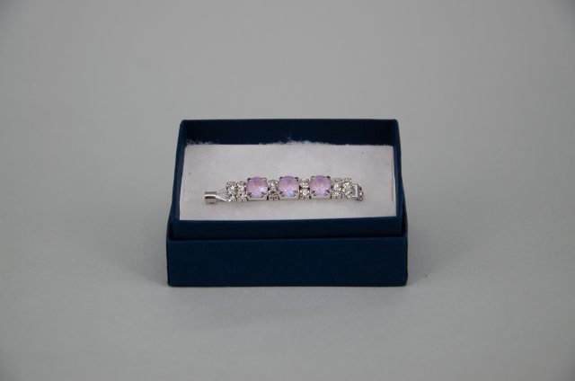 Equi-Jewel by Emily Galtry Stock Pin - 6mm Lavender DeLite Swarovski Crystals with 3mm Clear Jewels
