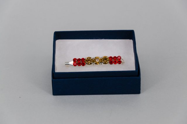 Equi-Jewel by Emily Galtry Stock Pin - 6mm Gold & 3mm Red Jewels