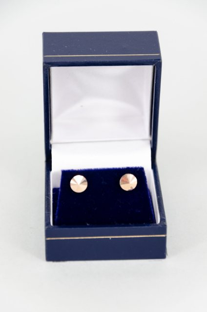 Equi-Jewel Earrings - Rivoli Swarovski Crystal Round Stud - Rose Gold