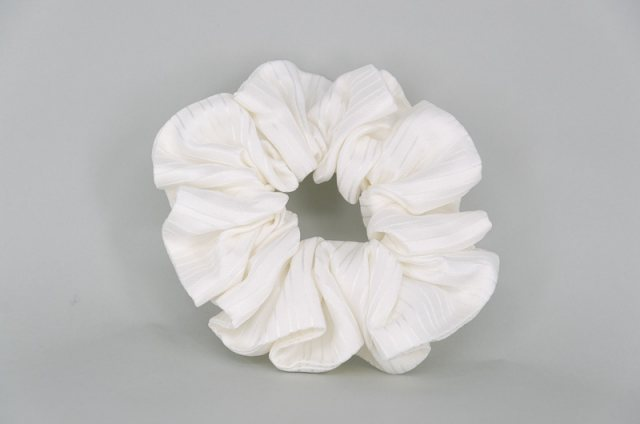 Equi-Jewel by Emily Galtry EJS-39 White Stripe Scrunchie
