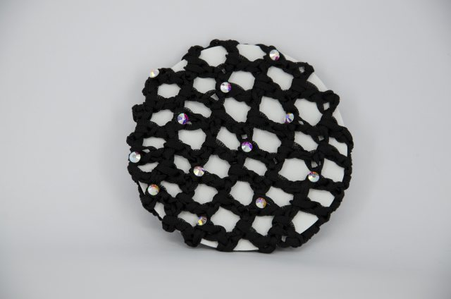 Equi-Jewel Black Bun Net with AB Swarovski Crystals