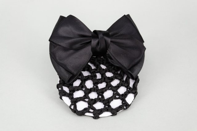 Equi-Jewel by Emily Galtry Black Bun Net with Bow