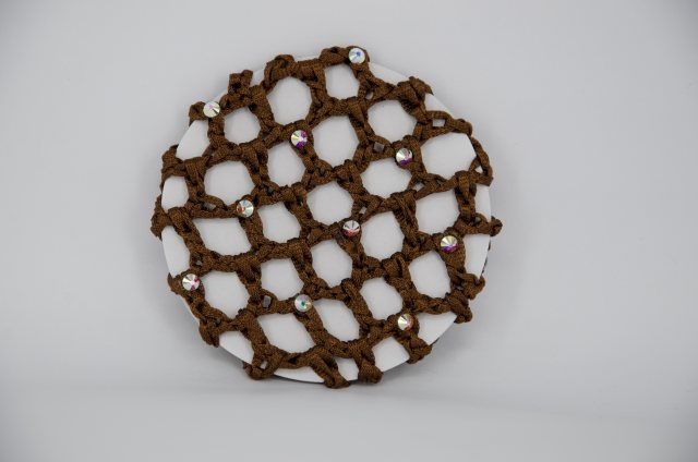 Equi-Jewel by Emily Galtry Brown Bun Net with AB Swarovski Crystals